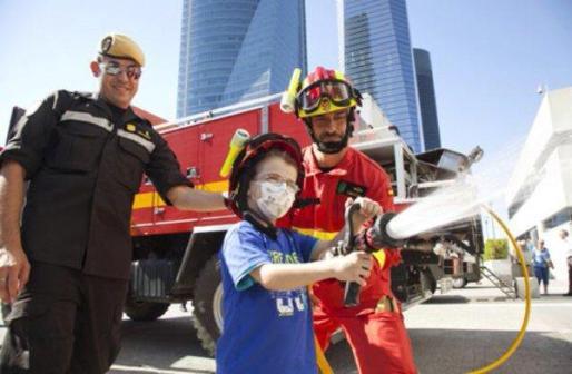 """El Ministerio de Defensa ha publicado esta fotografía para apoyar la causa de estos """"pequeños héroes""""."""