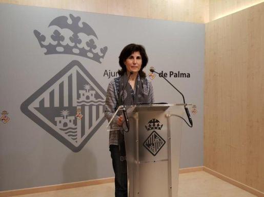 La regidora Antònia Martín ha comparecido en rueda de prensa.