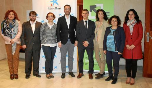 María Antonia Sureda, Pep Lluís Pons, Joana María Adrover, José Hila, José María Gilgado, Carmen Planas, Joana Campomar y Sandra Fernández.