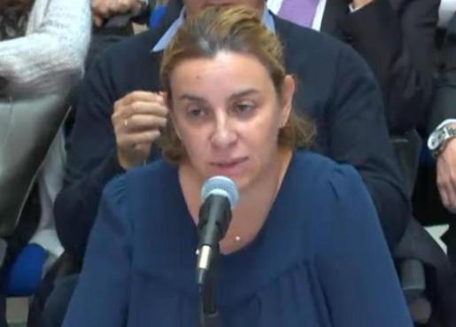 Elisa Maldonado, durante su declaración.