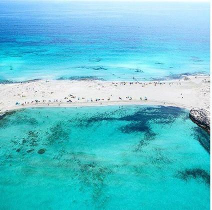 S'Espalmador de Ses Illetes, en el parque natural de Ses Salines en Formentera.