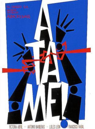 Cartel de la película '¡Átame!'.
