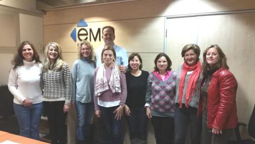 Grupo de trabajadoras contratadas por PalmaActiva dentro del proyecto «Visibles» del Govern balear.