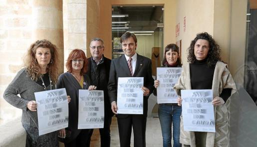 Miquela Serra, Maria Barceló, Toni Sureda, Francesc Miralles, Llucía Font y Julia Montfort, este viernes en La Misericòrdia.