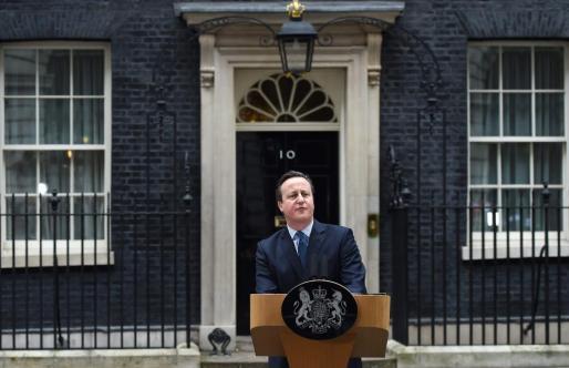 David Cameron anuncia la fecha del referéndum en el número 10 de Downing Street.