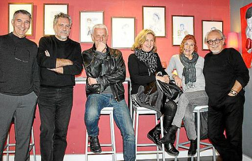 Jaume Gual, Jaume Salvadiego, Joan Carles Palou, Aina Tous, Lita Riera y Ferran Pereyra.