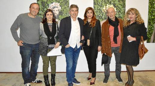 José Comas, Joana Amengual, Lluís Ramis, Cati Pujades, Esteban Cabot y Maria Alorda.