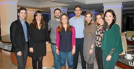César García, Cristina Moncusí, Joan Francesc Andreo, Ana Araújo, Pedro Sarrià, Mónica Caldentey, Jacoba Alba e Irene Mayorga.