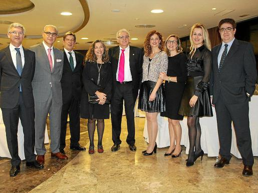 Ramón García, Andreu Mesquida, Antoni Real, Rosa María Hernández, Guillem Roser, Fina Castell, Pilar Cavero, María Dolores Caldentey y Antoni Bennássar.