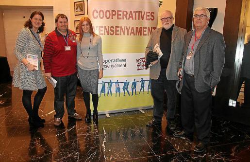 Gero Canyelles, Joan Manel Huguet, Malena Riudavets, Toni Vicens y Enric Pozo.