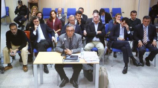 El ex socio de Iñaki Urdangarín en el Instituto Nóos, Diego Torres, durante su declaración en la sesión de este jueves.