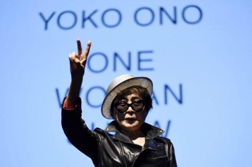 Imagen de archivo de Yoko Ono, durante una conferencia en Nueva York.