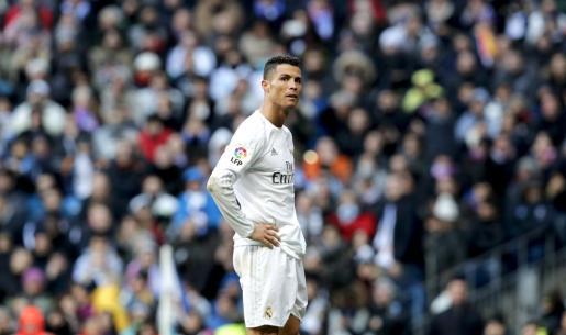 Cristiano Ronaldo en el partido ante el Atlético de Madrid.