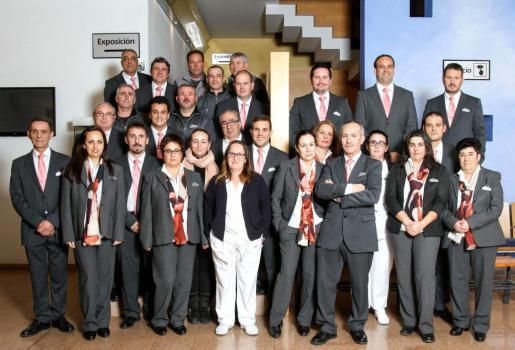 Los empleados de Pompas Fúnebres Ibiza.