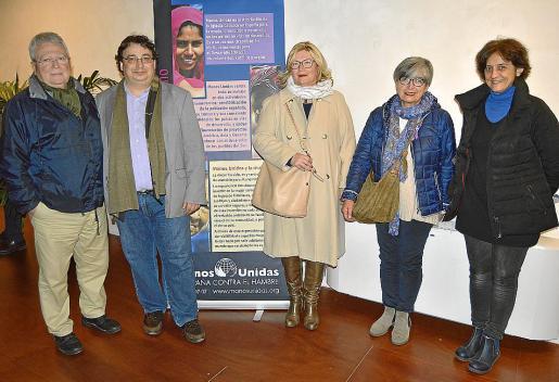 Pere Bonet, Andreu Caballero, Marga Batle, Sandra Mirric y Catalina Vallespir.