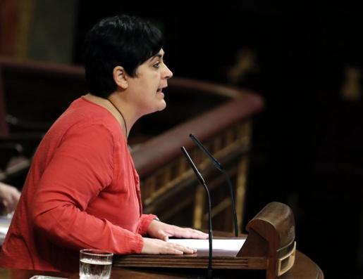 La diputada de EH Bildu Marian Beitialarrangoitia, durante su intervención.