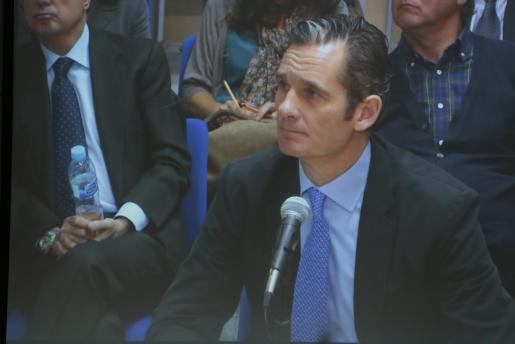 El exduque de Palma, Iñaki Urdangarin, durante su declaración de este miércoles ante el tribunal que juzga el caso Nóos.