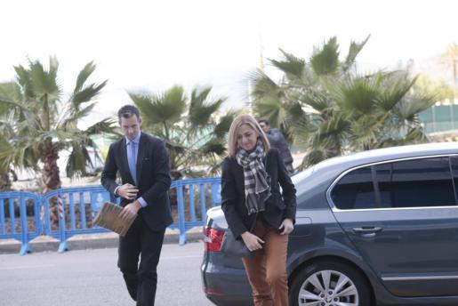 Cristina de Borbón e Iñaki Urdangarin, llegando a la sede del juicio del caso Nóos.