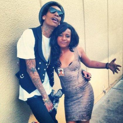 Imagen de Boobi Kristina con el rapero Wiz Khalifa.