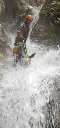 Imagen de un descenso por el torrente de Biniaraix.