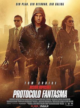 Cartel promocional de la película 'Misión imposible: Protocolo Fantasma'.