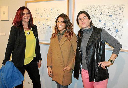 Catalina Vallés, Carolina Bustos y Marta Jiménez.