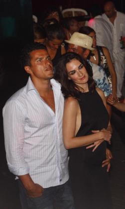 Paz Vega y su marido, Orson Salazar, en una de sus visitas a Eivissa.