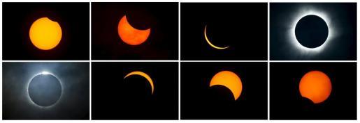 Eclipse solar en Indonesia.