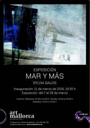 'Mar y más' es el título de la exposición de Sylvia Galos.