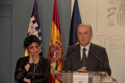 El presidente del Tribunal Superior de Justicia de Baleares (TSJIB), Antoni Terrasa, durante la presentacion memoria del TSJIB.