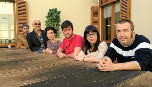 Tomeu Gomila, Joan Carles Palou, Marga Rotger, Arturo Fernández, Noemí Garcies y Peter Terrassa, durante la presentación del ciclo de conciertos.