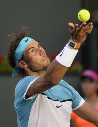 Rafael Nadal, durante el partido de la cuarta ronda del torneo de Indian Wells.