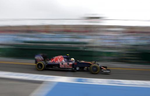 El coche de Carlos Sainz, durante los entrenamientos.