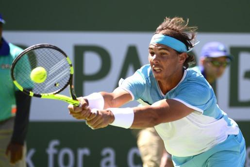 Rafael Nadal durante el encuentro contra Kei Nishhikori. Foto: MIKE NELSON