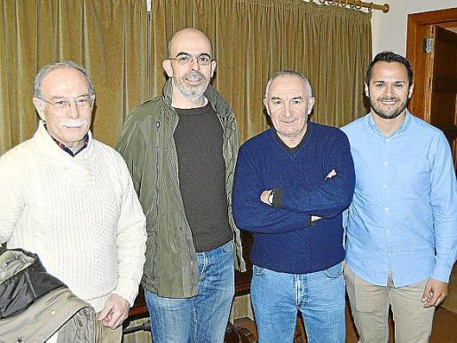 Toni Vidal, Miquel Campaner, Andreu Maimó y Xisco Duarte.