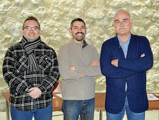 Toni Amorós, Marçal Isern y Manel Suárez.