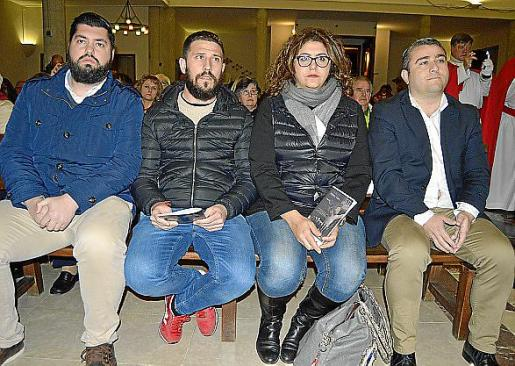 Sebastià Oriol, Antoni Peña, Maria del Carmen Oses y Virgilio Moreno.