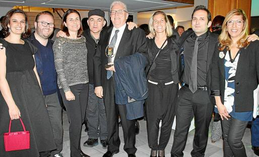 Diana de la Cuadra, Tommy Ferragut, Paula Serra, Pep Noguera, Josep y América Matas, de Publicidad Matas; Marcos Cabotá y Gema Muñoz.