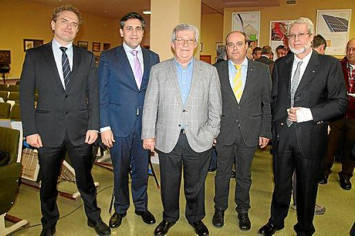 Óscar Carreras, Pedro Fernández, Manuel Gómez, Climent Olives y Eduardo López.