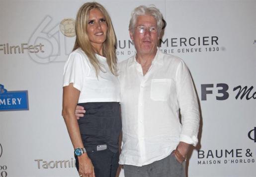 Richard Gere y Alejandra Silva, en una fotografía de archivo.