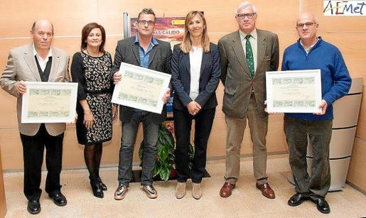 Jaume Tomàs, María José Guerrero, Miguel Ángel Pons, Teresa Palmer, José Luis Roses y Paco Seguí.