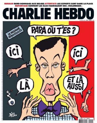La revista satírica francesa 'Charlie Hebdo' ha dedicado la portada de su último número a los recientes atentados de Bruselas, con una polémica ilustración en la que aparecen partes de cuerpos junto al cantante belga Stromae.