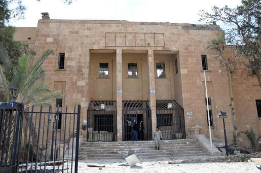 Foto cedida por la agencia de noticias oficial Syrian Arab News Agency (SANA) que muestra una vista del Museo Nacional de Palmira (Siria).