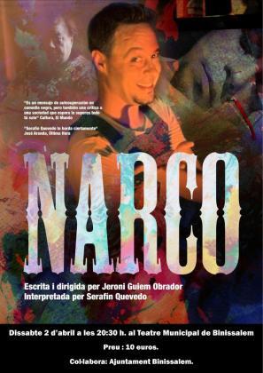Serafín Quevedo protagoniza el monólogo 'Narco'.