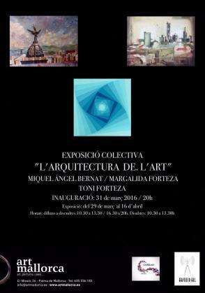 La galería Artmallorca acoge la colectiva 'L'arquitectura de l'art'.