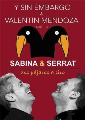 Cartel del concierto homenaje a Sabina y Serrat.