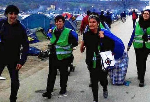 Voluntarios de Sóller, Bunyola y Palma en Grecia