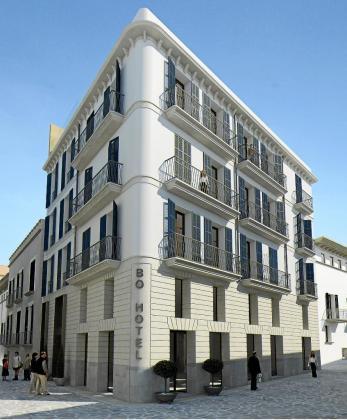 En la imagen, una recreación virtual de la fachada del hotel Bo Palma, situado en el casco antiguo de Palma. La entrada al establecimiento será por la calle Vallseca.
