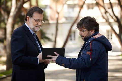 Rajoy, durante la entrevista emitida por el programa «Salvados» y realizada por el periodista Jordi Évole.