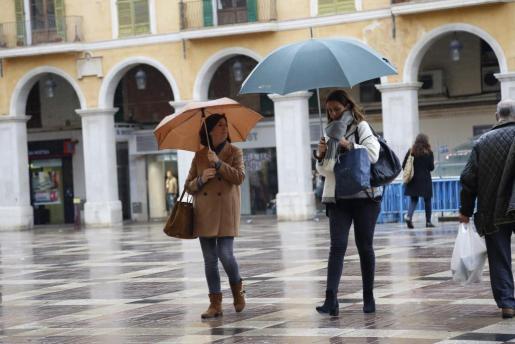 Día de lluvia en Palma en las primeras semanas del invierno.